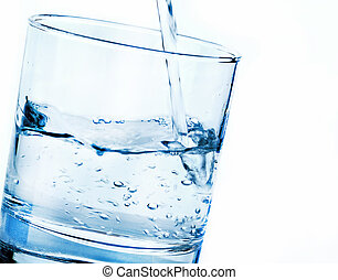 água, despejar, vidro
