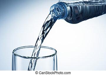 água, despeje