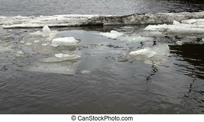 água, floe gelo, bóias
