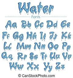 água, fonte, textura, inglês