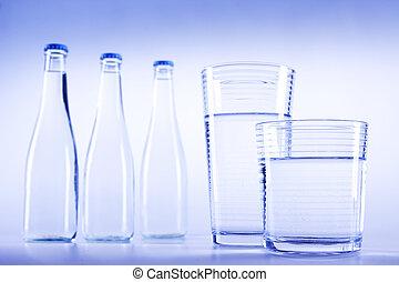 água, fresco, bebendo, puro