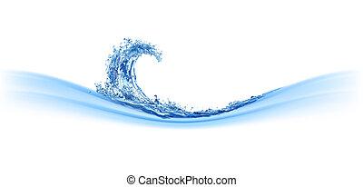 água, fresco, onda