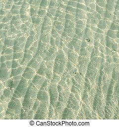 água, fundo