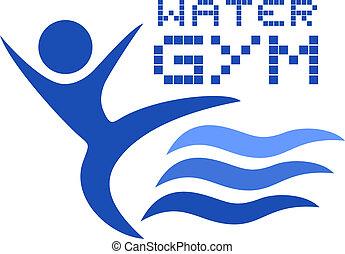 água, ginásio