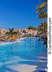 água, ilha, piscina, tenerife