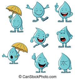 água, jogo, personagem, cobrança