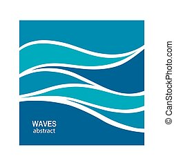 água, logotipo, abstratos, onda, design.