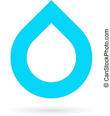 água, logotipo, gota, minimalistic