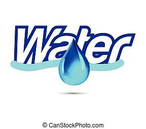 água, logotipo, gota