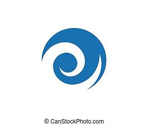 água, logotipo, modelo, onda