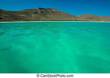 água, mar turquesa, cortez