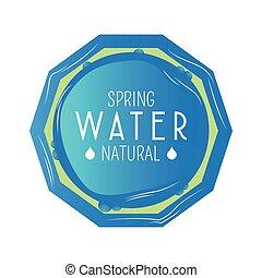 água, mineral, etiqueta