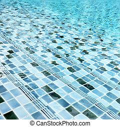 água, natação, escadas, piscina, sob