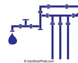 água, oleoduto