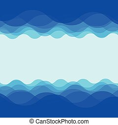 água, onda, desenho