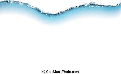água, onda, isolado