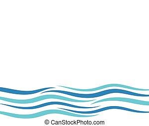 água, onda, vetorial, ilustração, desenho