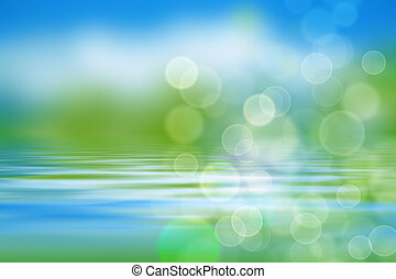 água, ondas, fundo, verdes, natureza