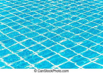água, ondulado, detalhe, piscina, natação