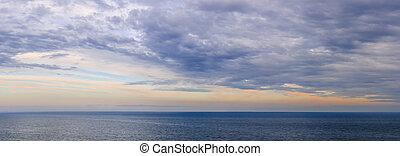 água, panorama, sobre, céu