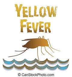 água, pernilongo, ainda, amarela, febre