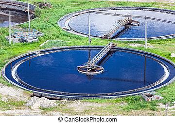 água, planta, aéreo, tratamento