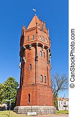 água, polônia, (1905), torre, malbork