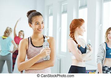 água potável, após, condicão física
