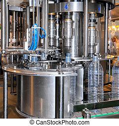água, producao, indústria, bebida, linha