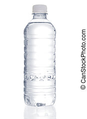 água purificada, garrafa
