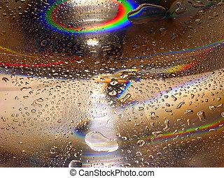 água, -rainbow, gotas