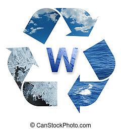 água, reciclagem