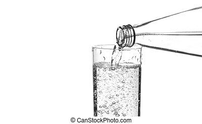 água, refrescar, cintilante