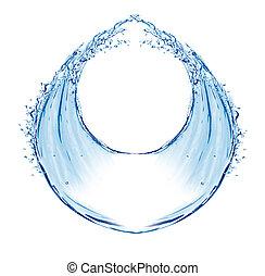 água, respingo, circular