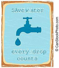 água, salvar