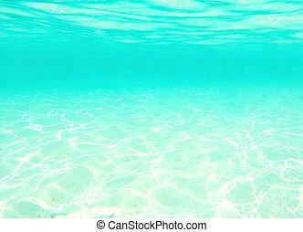 água, sob, a, ondas, azul, abstratos, fundo