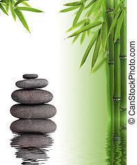 água, spa, vida, ainda, reflexão