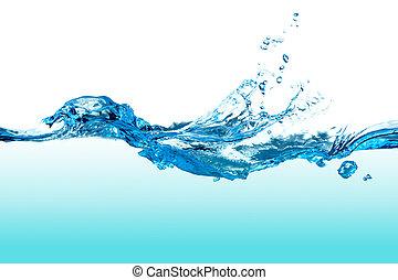 água, splash.