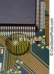 água, tábua circuito, microprocessador