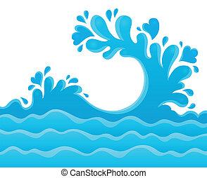água, tema, respingo, imagem, 6