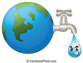água, terra, gota