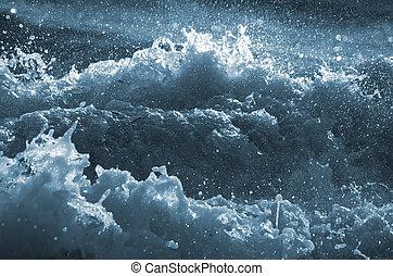 águas, incomodado
