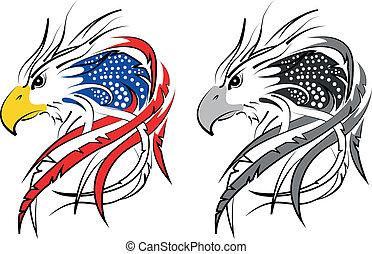 águia, bandeira, eua, incorporated