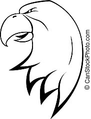 águia, cabeça, símbolo