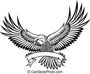 águia, com, emblema