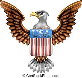 águia, escudo, desenho