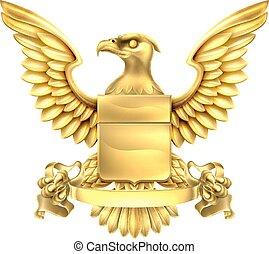águia, heráldica, braços, agasalho