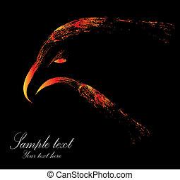 águia, imagem, vetorial, cabeça