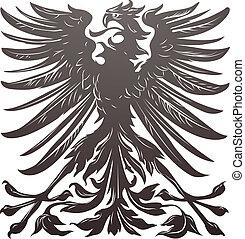 águia, imperial, projete elemento