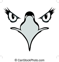 águia, olhos